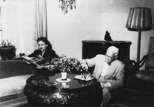 Joseph Lachmann und seine Frau in Jerusalem